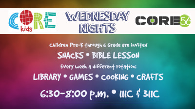 CORE Kids Wednesday Nights
