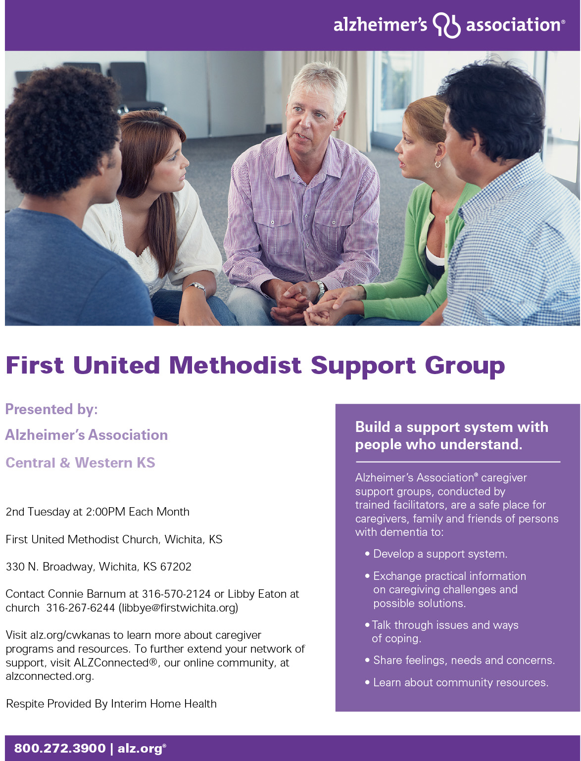 Alzheimer support flier
